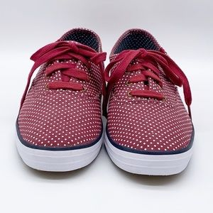 Keds Shoes - EUC Keds burgundy polka dot sneakers size 8.5